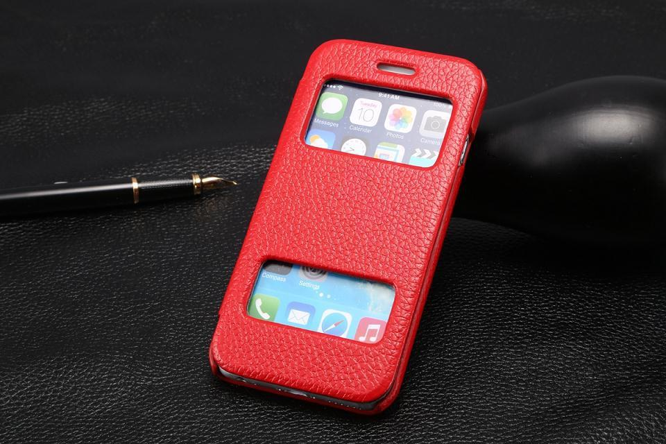 2015 new luxury brand original phone case for iPhone6 4.7 inch Smart Front Window View bracket leather phone cover for iPhone6(China (Mainland))