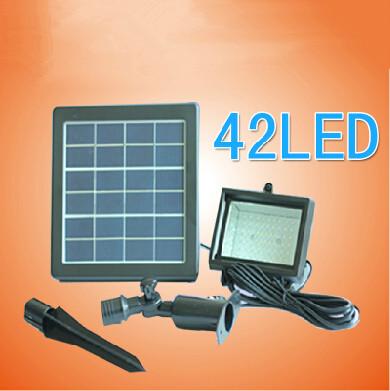 free shipping New Outdoor Solar Power Flood light decoration for garden 42LED light sensor+green/ led solar light outdoor solar(China (Mainland))