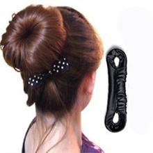 Buy 1Pcs Elastic Hair Rings Updo Bun Gum Hair Ties Meatball Head Braider Tools Hair Care Styling Braid Hairdressing Accessories for $1.05 in AliExpress store