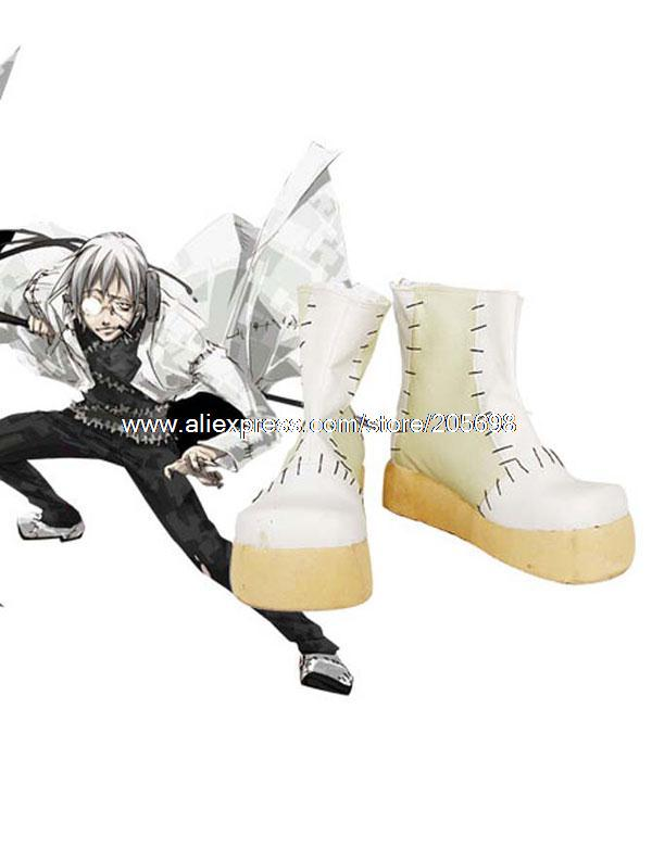New Soul Eater Stein Style Leather Foam Cosplay Shoes anime halloween christmas Free Shipping(China (Mainland))