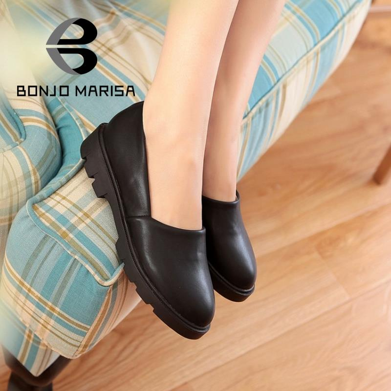 New Top Selling Women Flats 2015 Fashion Rubber Sole Flat Heel Platform Spring Autumn Shoes Brand Design Womens Solid Flats