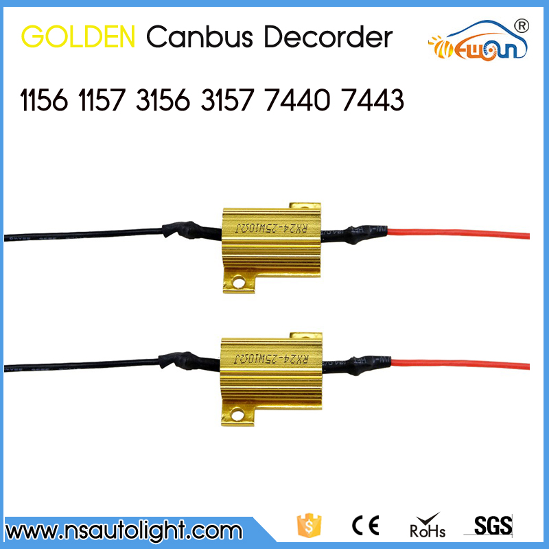 Canbus Error Free Resistor LED Decoder Canceller For T20 7440 7443 T20 LED Bulb Error Free Load Canbus Resistor for all car(China (Mainland))