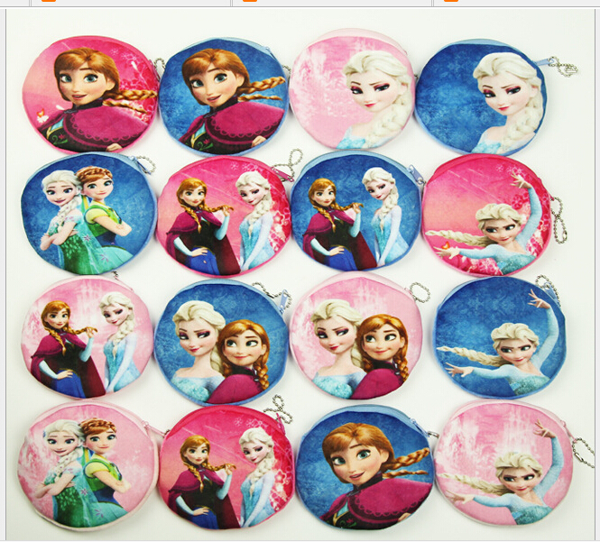 new digital printing BALLERINA GIRL anna and elsa cartoon Plush zero wallet cute small girls children Creative cartoon coin bag(China (Mainland))
