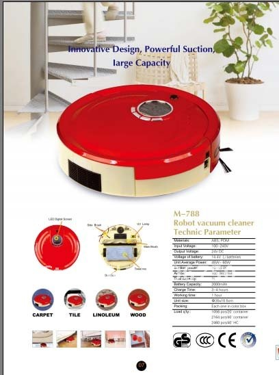 (Free Shipping For Russian Buyer) Robot Vacuum Cleaner M788 With UV light to kill the bacteria /Li-ion Battery /1L Rubblish Box