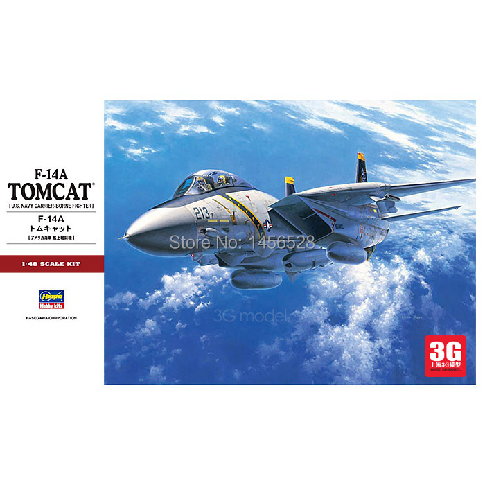 HASEGAWA scale model 07246 1/48 aircraft F-14A TOMCAT model airplane plastic assembly model kits scale model building kit(China (Mainland))