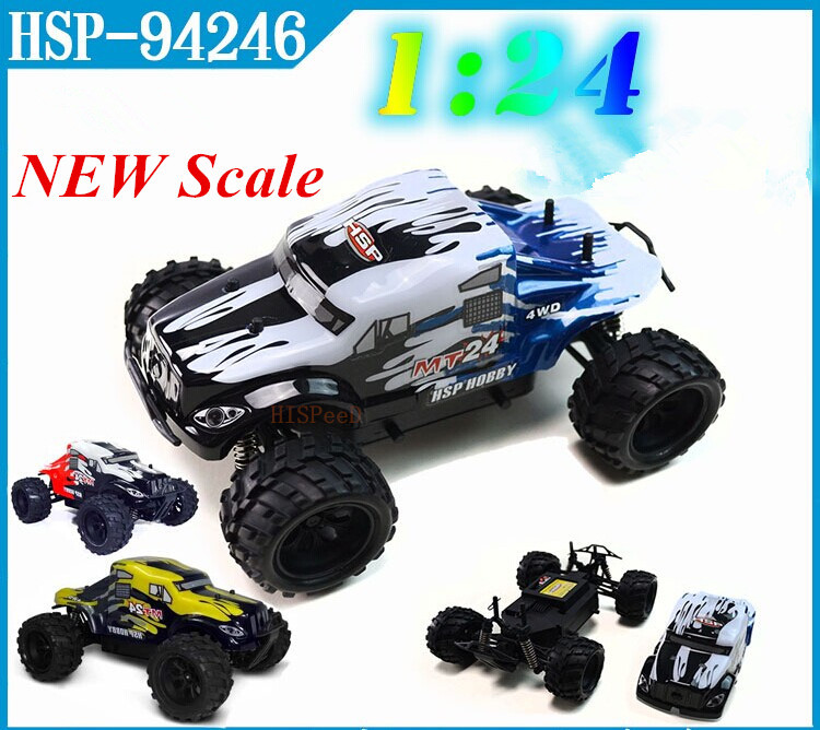 2014 New Style HSP Rc Car 1/24 Scale Models Electric Power 4wd Off Road Monster Truck 94246 Remote Control Car Hobby(China (Mainland))