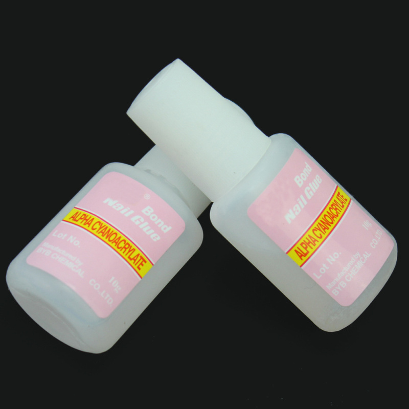 5x Nail Glue for Acrylic Nail Art Tips Decoration Accessories Home Salon Nail Beauty Supplies with Brush