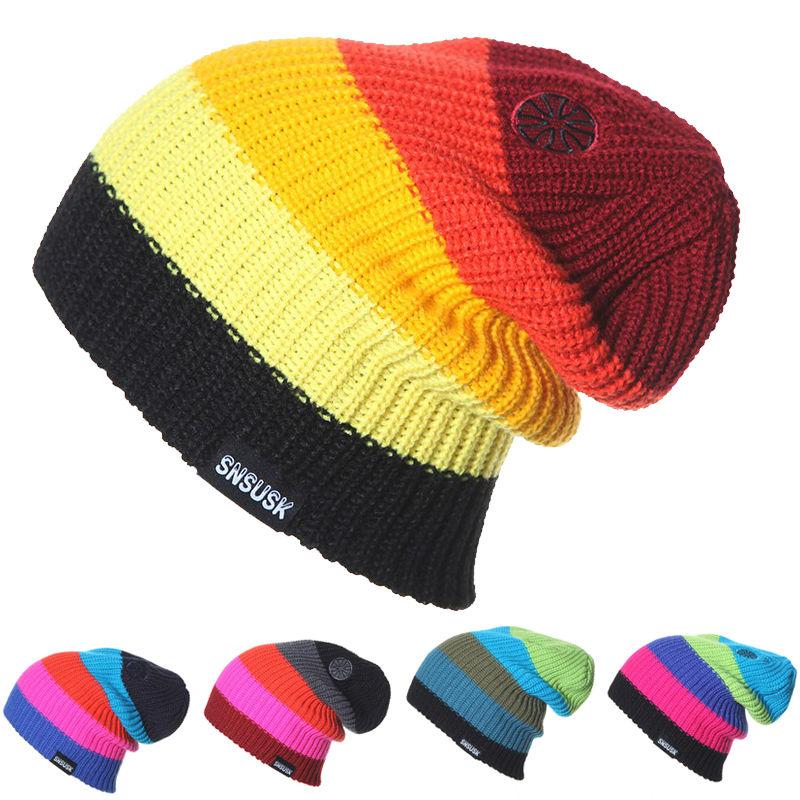 Men Women Skiing Warm Winter Hats Knitting Skating Skull Caps For Woman Turtleneck Beanies Hat Snowboard Ski Cap(China (Mainland))