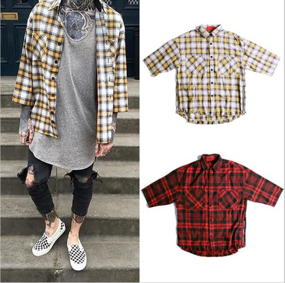 2016 spring casual dress china font b tartan b font clothing men clothes plaid fear of