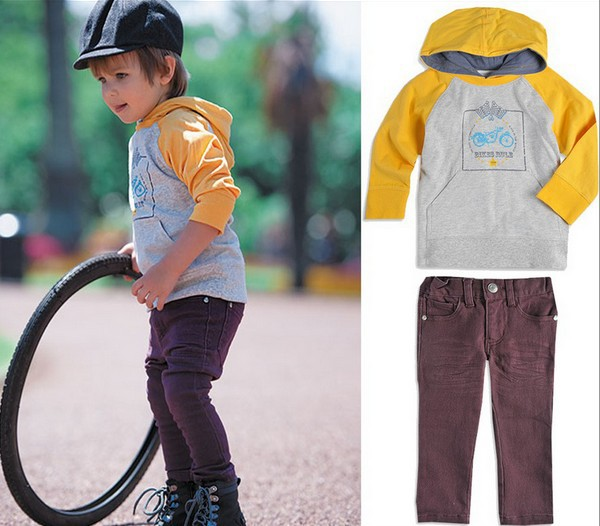 Factory Clear Stock Children Clothing Spring Fall Baby Set Long Sleeve Hoodies + Pants Boys Casual Sets 80-120 Kids Suit - Kid Monopoly Shop store