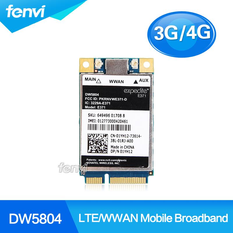 Unlocked Wireless DW5804 4G LTE/WWAN Mobile Broadband 01YH12 E371 PCI-E 3G/4G Card WLAN WCDMA module Modem for Dell(China (Mainland))