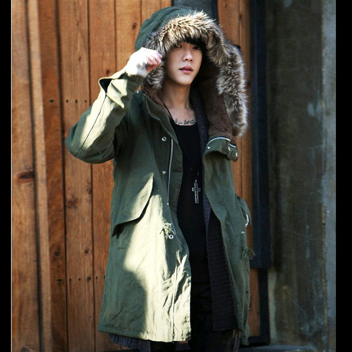 2015 new winter jacket men wadded fur collar thickening trench overcoat outerwear jackets mens parka