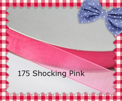 200yards/roll 7/8 Inch (22mm) Shocking Pink/Garden Rose/Azalea/La Rosa/Coral Rose Polyester Sheer Ribbon For Wedding Dress(China (Mainland))