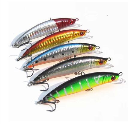 Гаджет  Free shipping 2014 new arrival 5pcs/lot crank baits minnow fishing lures pesca lures Bionic 8cm/7.5g None Спорт и развлечения
