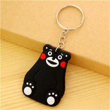 1 PCS Bonito Dos Desenhos Animados Urso Olá Kitty Silicone anel Chave Chaveiro Acessórios Mochila Do Homem Aranha chaveiro Key Holder Caçoa o Presente(China)