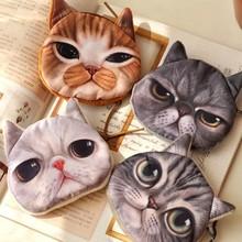 Cute Cat Plush Coin Purse Mobile Phone Bag Mini Portable Wallet Retail(China (Mainland))