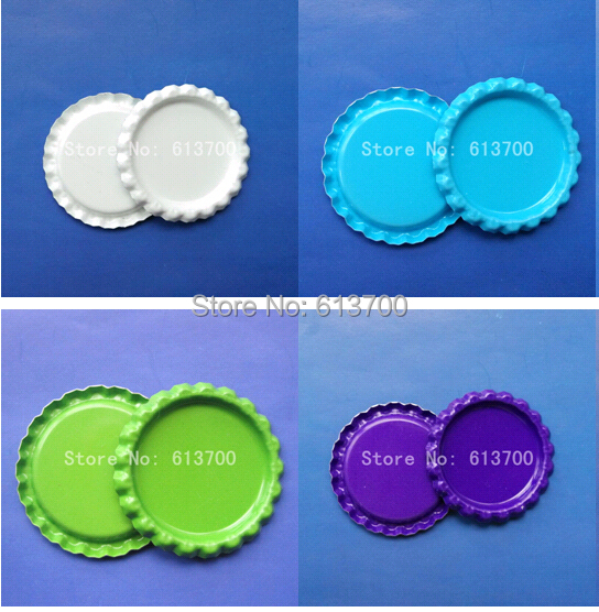 Promotion 1'' Flattened Both Side Colored Bottle caps Sliver Chrome Crown Bottlecap For Crafts & Jewelr