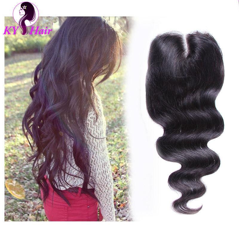 Здесь можно купить  6A Brazilian Lace Closure Body Wave Middle Part 1pc Brazilian Body Wave Closure With Bleaches Knots Human Hair Extensions  Волосы и аксессуары