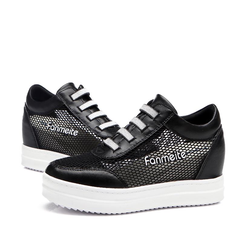 Women Sneakers 2015 Flat Platform Sneakers Women Shoes Mesh Cutouts High Heel Sneaker Breathable Running Shoes Women Sport Shoes