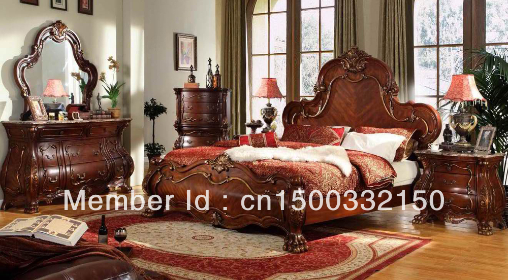 CLASSIC WOOD HAND CARVING BEDROOM SET M1600 In Bedroom Sets From Furniture On