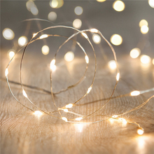2 /3/4/ 5M Chrismas decorative Battery Operated LED strip Fairy Lights IP65 waterproof Cool Warm White LEDs led neon Silver Wire(China (Mainland))