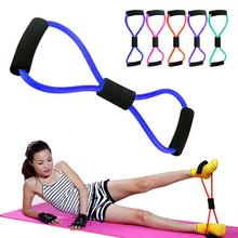 Unisex 8-shaped Chest Developer Rubber Latex Expander Tension Yoga Fitness Equipment Elastic Tube Band Exerciser Resistance Band