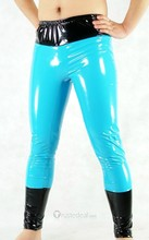 Blue PVC Catsuit Trousers(Z225)(China (Mainland))