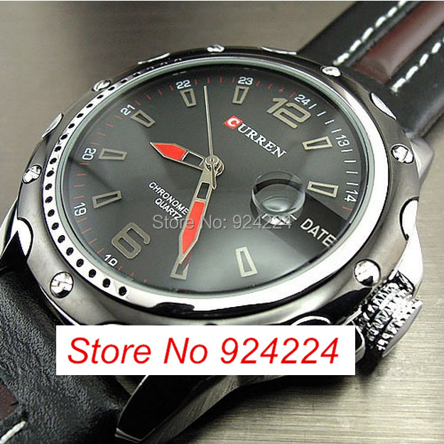 CURREN Watches Men 2014 New Fashion Style Round Dial Wristwatches PU Leather Strap - Carl Trade store