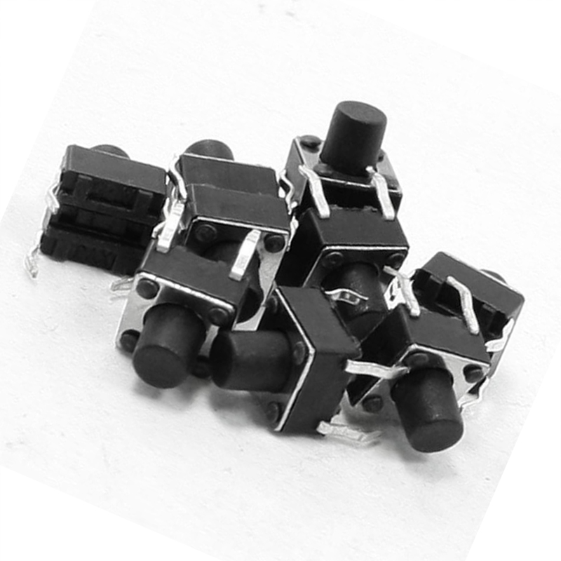 10 Pcs 6x6x7mm 4 Pins DIP PCB Momentary Tactile Tact Push Button Switch