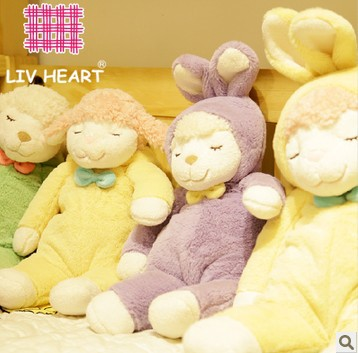 Rabbit sheep plush toy dolls cloth doll super cute pillow birthday Christmas gift 50cm(China (Mainland))