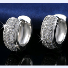 DALI Newest Style Micro Paved AAA Zircon Earrings For Women's Birthday Gift DE100(China (Mainland))