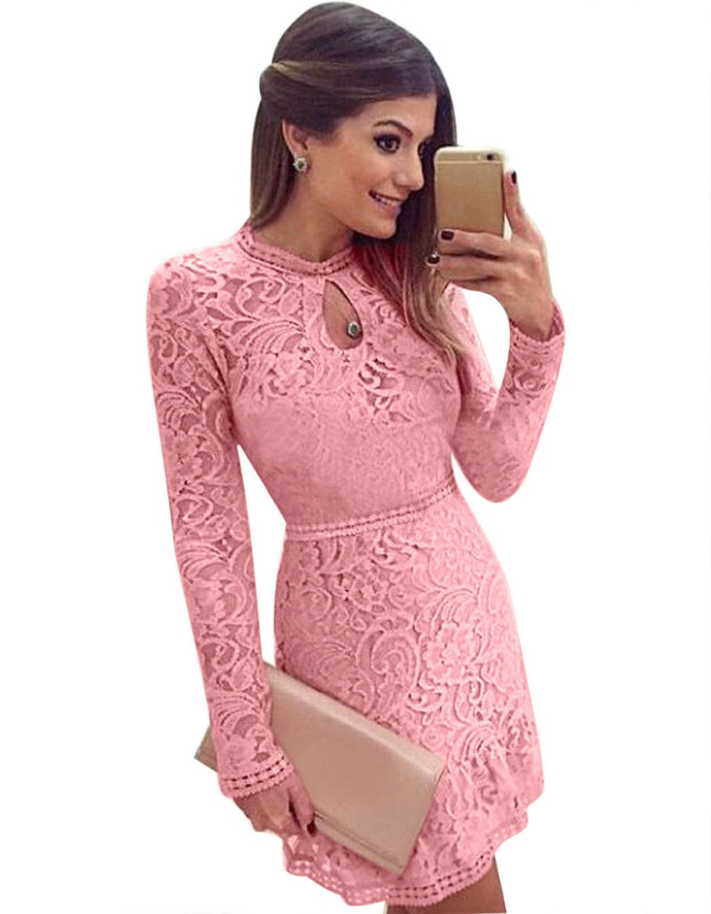 O neck long sleeve dress ralph