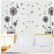 """""""Butterfly Flying In Dandelion """"bedroom stickersPoastoral Style Wall Stickers Original Design 2016 PVC Wall Decals ZY515125(China (Mainland))"""