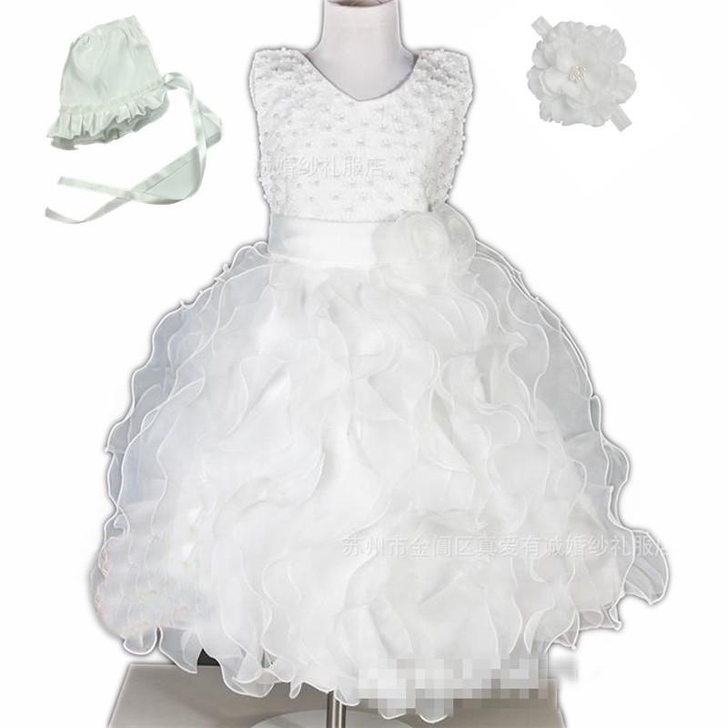 Hand perlen Weiße lange taufe kleider für Neugeborene-kleinkind baby ...