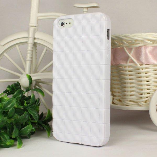 arrival! New Square Soft 3D Cube Hybrid TPU Gel Case Cover Apple iphone5 5G 5th White & - ShenZhen HongTai Electronics CO.,LTD store
