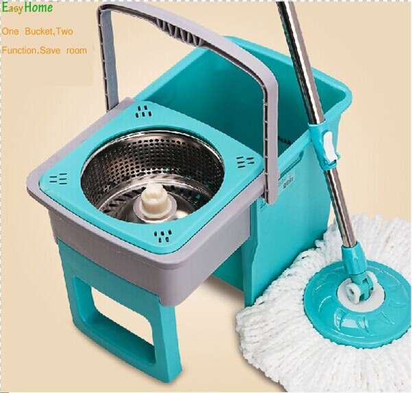 Free shipping &4 pcs free mop head uniqe one bucket two drive cleaning. new pp. magic mop ,360 degree spin mop,(China (Mainland))