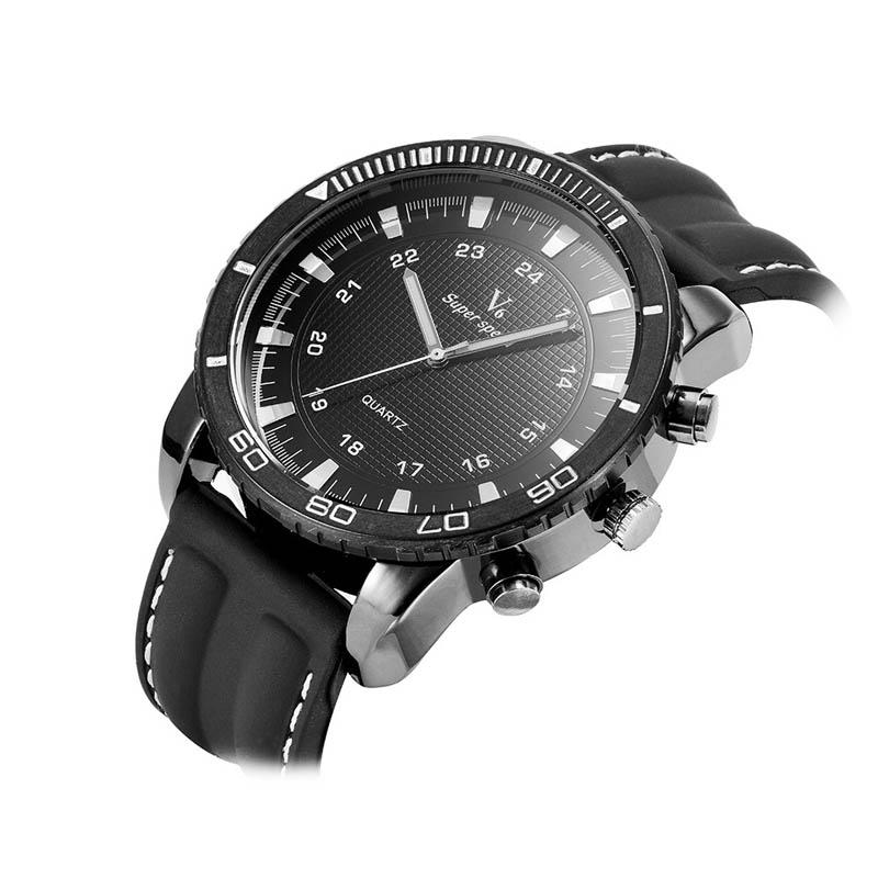 BGG watch V6 High Quality Men Quartz-Watch New Design Personality Round Dial silicone Quartz Watch Male Sports Wristwatch Clock