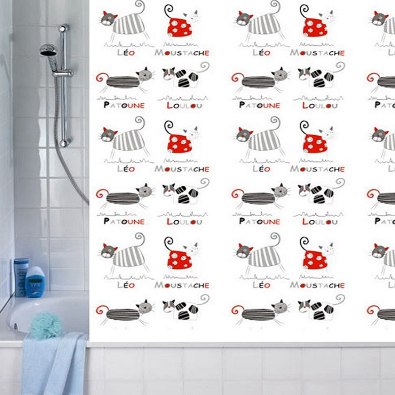 Online Get Cheap Cat Shower Curtain Aliexpress
