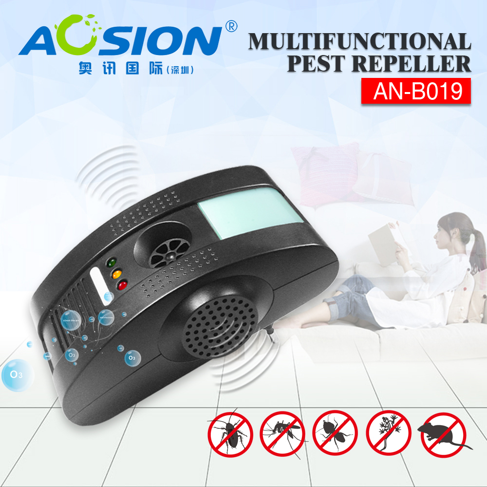 Aosion Ultrasonic mosquito fly repeller pest reject control Electromagnetic Waves + Anion + LED Night light with GS,BS,UL plug(China (Mainland))