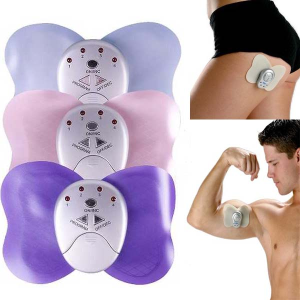Mini Losing Weight Slimming Butterfly electric body Massager therapy Electronic Body Pain Relief Arm Leg chest Muscle Massage(China (Mainland))