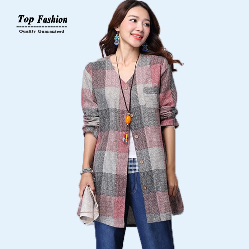 أزياء المرأة قمم 2015 طويلة الأكمام الخريف الشتاء منقوشة قمصان السيدات قمصان طويلة كبيرة الحجم النساء الملابس xl xxl xxxl(China (Mainland))