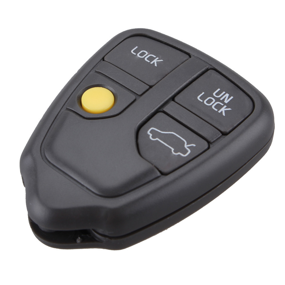 NEW Car Key Shell Replacement for VOLVO 4 Buttons With Panic Remote Key Casing Blank Cover(China (Mainland))