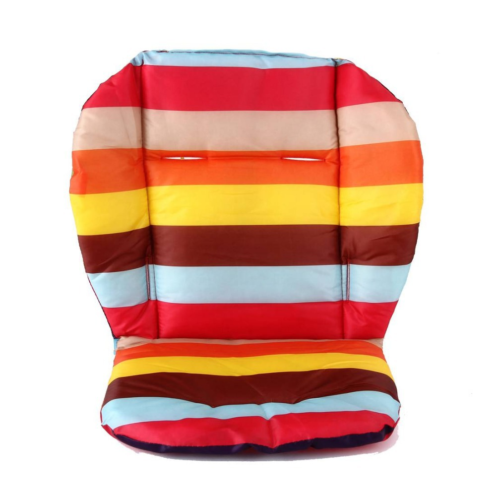 Rainbow Color Soft Thick Pram Cushion Chair BB Car Umbrella Cart Seat Pad Cotton Striped Liner Infant Stroller Mat For Baby Kids(China (Mainland))
