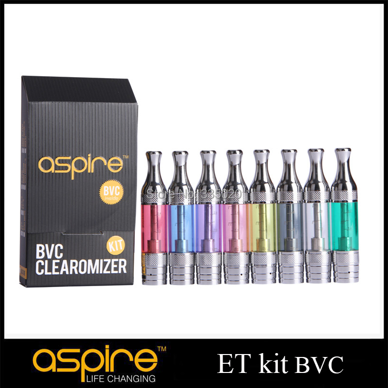 Aspire ET Kit BVC Clearomizer Pure Taste Bottom Dual Coil Tank Atomizer  eGo Thread ET BDC BVC Clearomizer Kit 50pcs/lot<br><br>Aliexpress