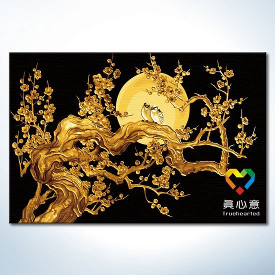 Diy digital oil painting landscape oil painting gold - 80 120 elixir of love