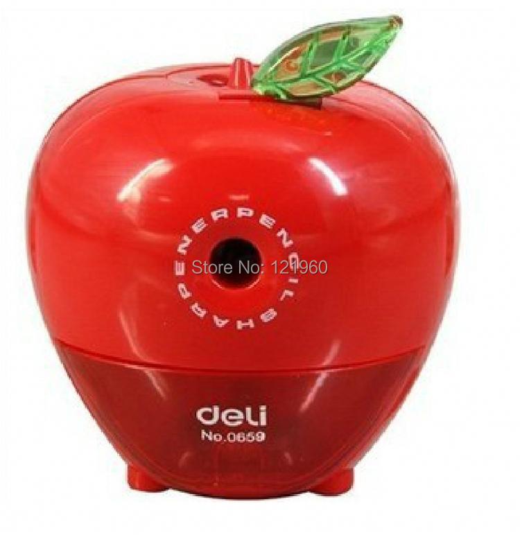 product 2014new deli 0659 Apple cranked pencil sharpener mechanical
