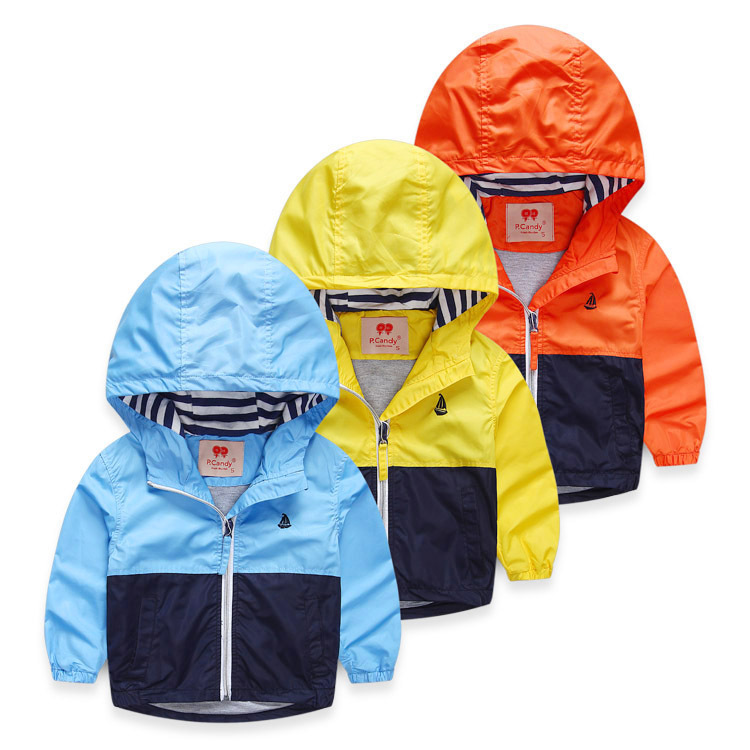 Children Jackets For Boys Spring Autumn Hooded Windproof Boys Outerwear & Coats 3-10 Years Boy Cardigan Jackets Kids Jaqueta(China (Mainland))