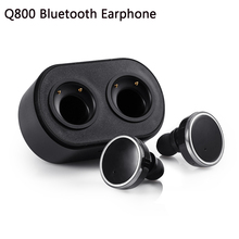 Original Q800 Bluetooth earphone Wireless In-ear Earbuds Double Track Headphone For iPhone 7 7 plus Noise Cancel True Eaphones(China (Mainland))