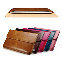 Luxury Genuine Leather Sleeve For Apple Air 11 13 Laptop Sleeve Pouch Cases For Macbook 13.3 inch Business Cover
