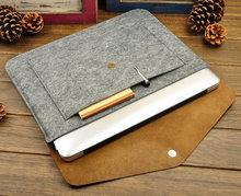2015 New General Fasion Felt leather Laptop Cases netbook sleeves for Notebook/tablet PC/ipad Samsung Galaxy ipad air mini mac(China (Mainland))